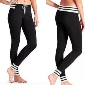 Athleta Varsity Jogger Yoga Pant Black Size LARGE